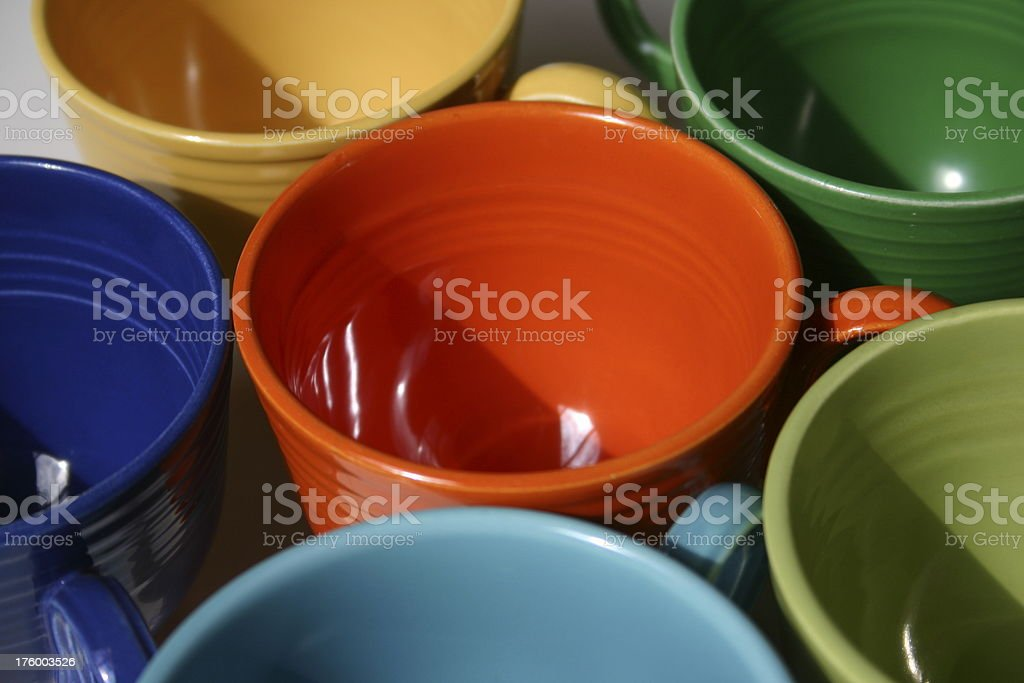 Colorful Coffee Cups (series) royalty-free stock photo