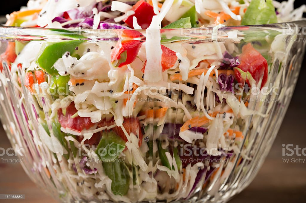 Colorful Coleslaw stock photo