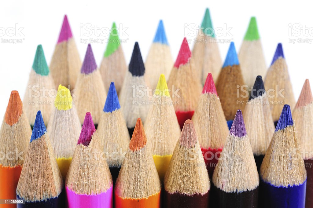 Colorful Color Pencils stock photo