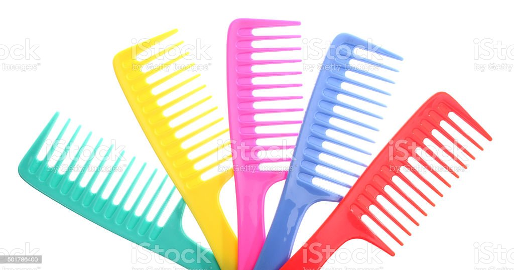 Colorful combs stock photo