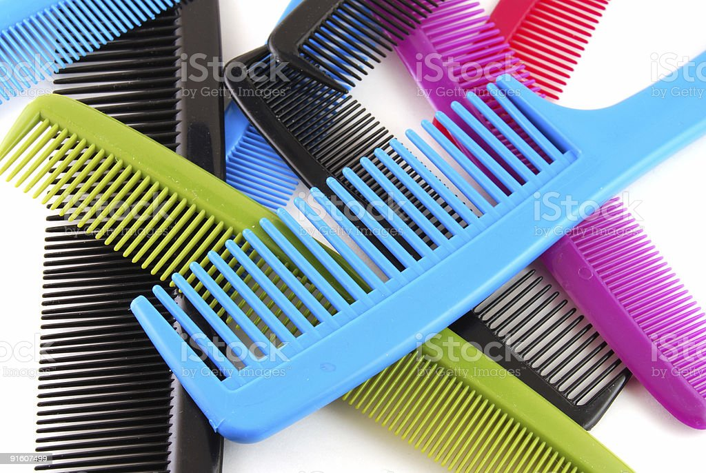 Colorful Combs royalty-free stock photo