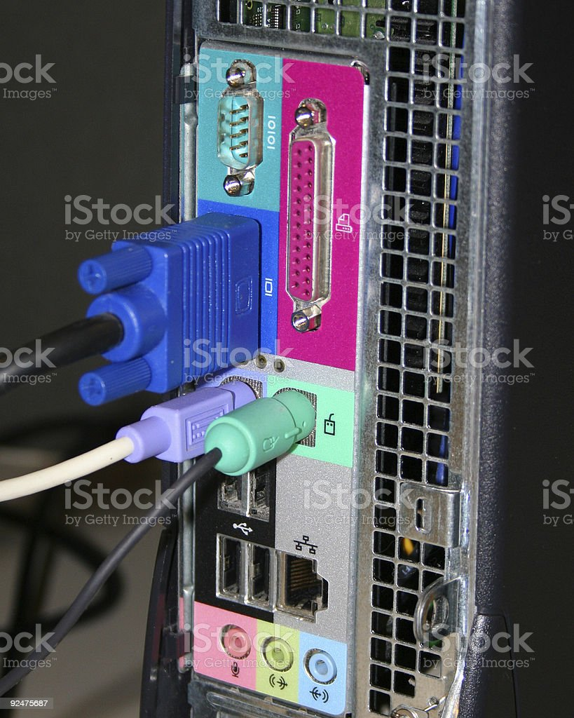 Colorful Computer Connections royalty-free stock photo