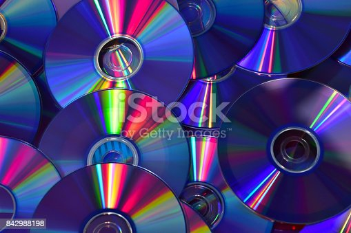 Colorful Computer Disks Abstract
