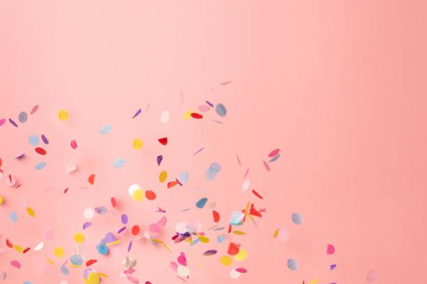 Colorful confetti on pastel pink background bright and festive picture id1162206139?b=1&k=6&m=1162206139&s=612x612&w=0&h=f7v8xxq2uqhcszgrkt7uay6fzpxvadayae0 umbiubg=