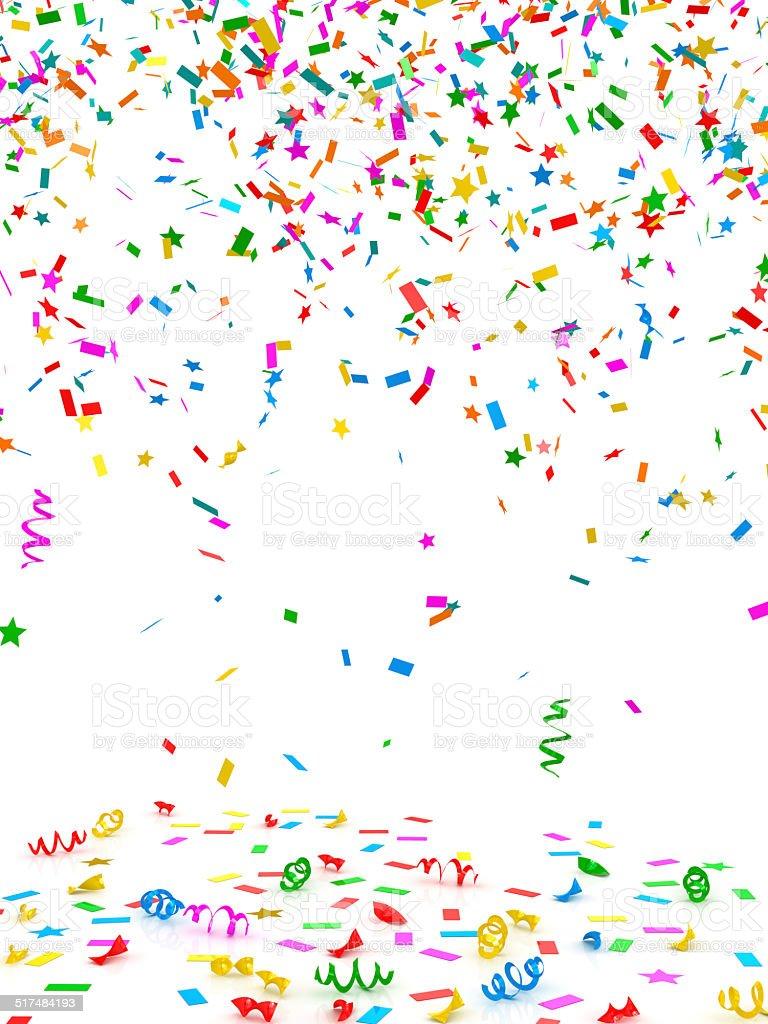 Colorful confetti stock photo