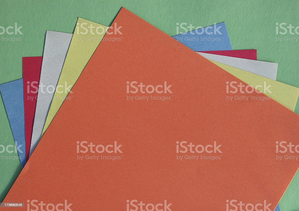 Colorful Construction paper stock photo