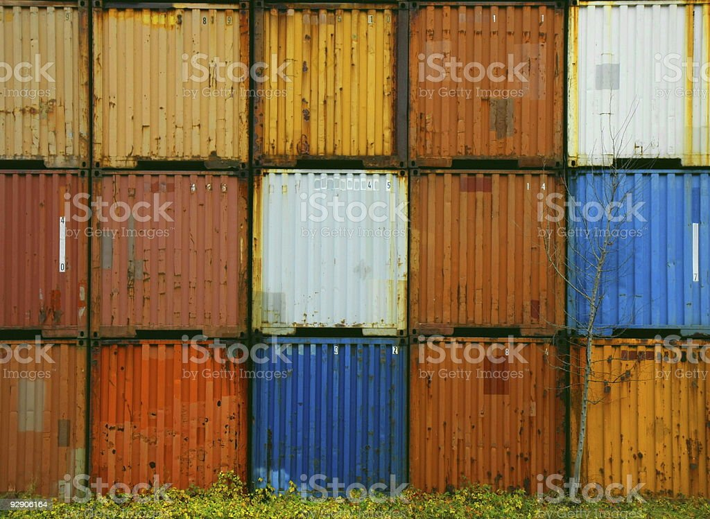 colorful containers royalty-free stock photo