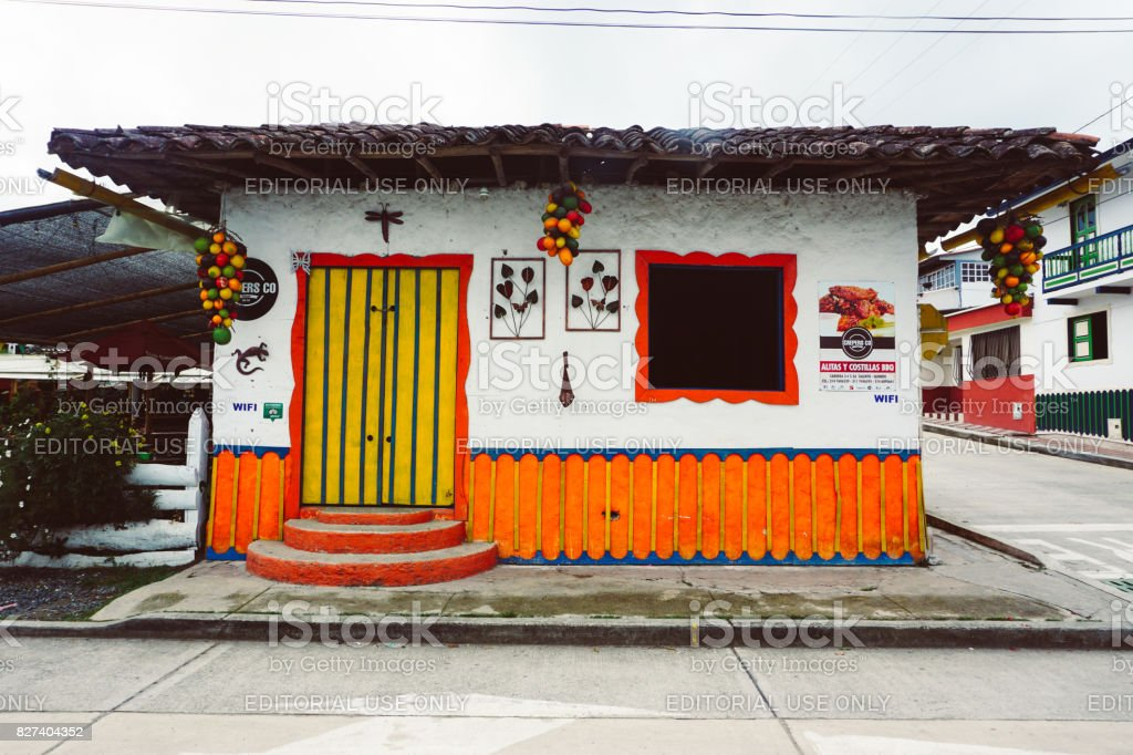 Colorful Corner Store In Salento Colombia Stock Photo More