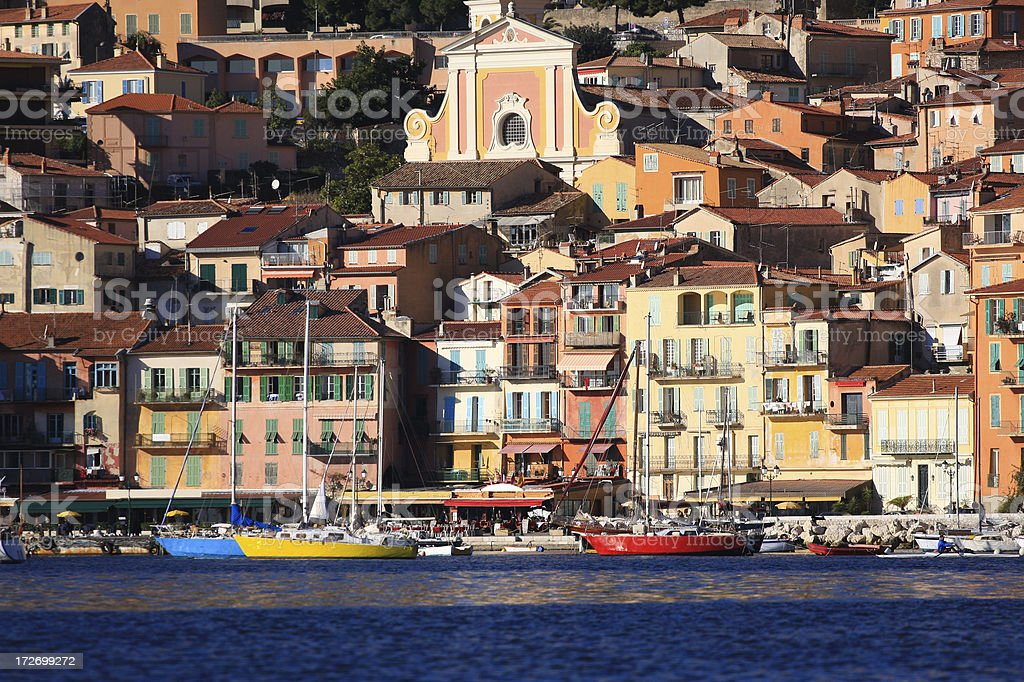 Colorful Cote d'Azur royalty-free stock photo