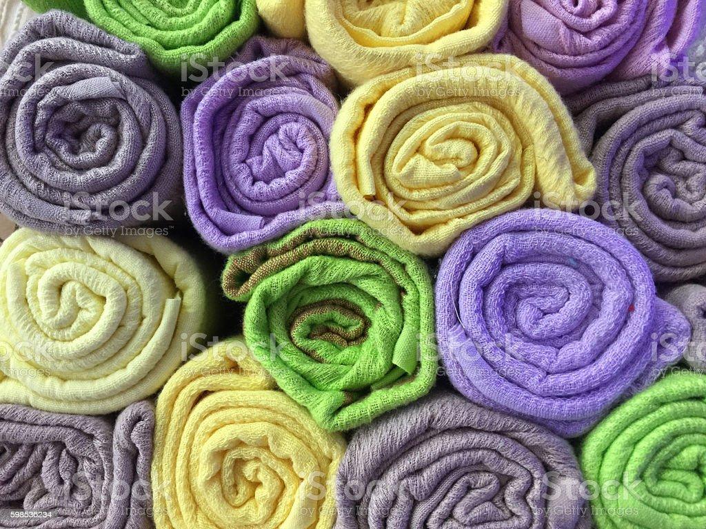 colorful cotton clothes as a background photo libre de droits