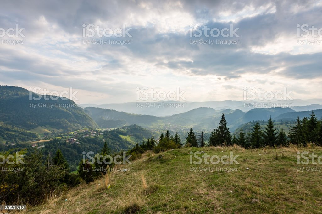 colorful countryside view in carpathians royalty-free stock photo