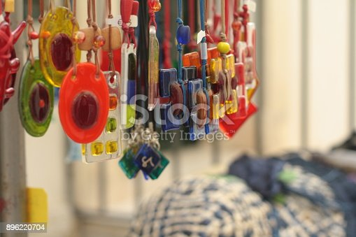 istock Colorful craft jewels on sale. 896220704