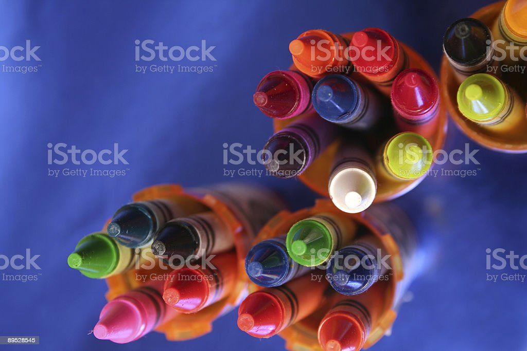 Colorful Crayons royalty-free stock photo