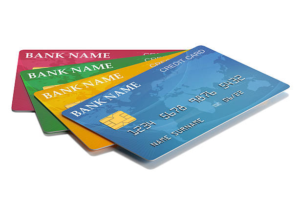 Colorful Credit Cards stock photo