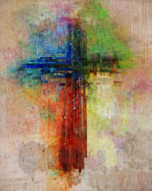 colorful cross - cross stock photos and pictures