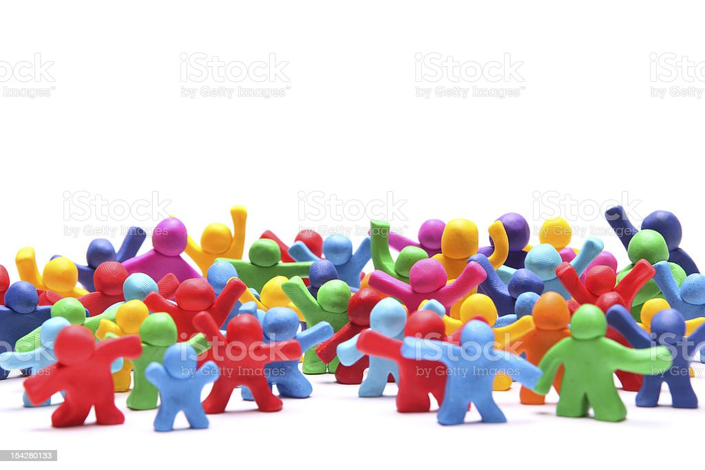 colorful crowd stock photo