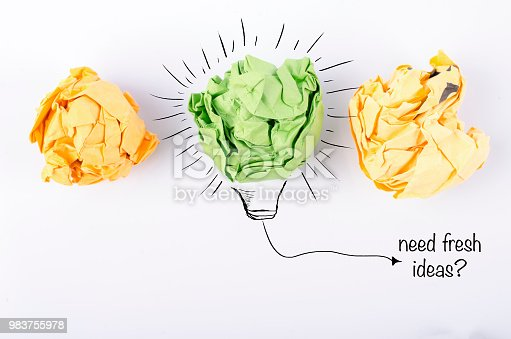 845301446 istock photo colorful crumple paper with bulb symbol 983755978