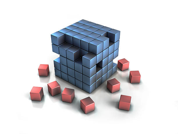 Colorful cubes puzzle stock photo