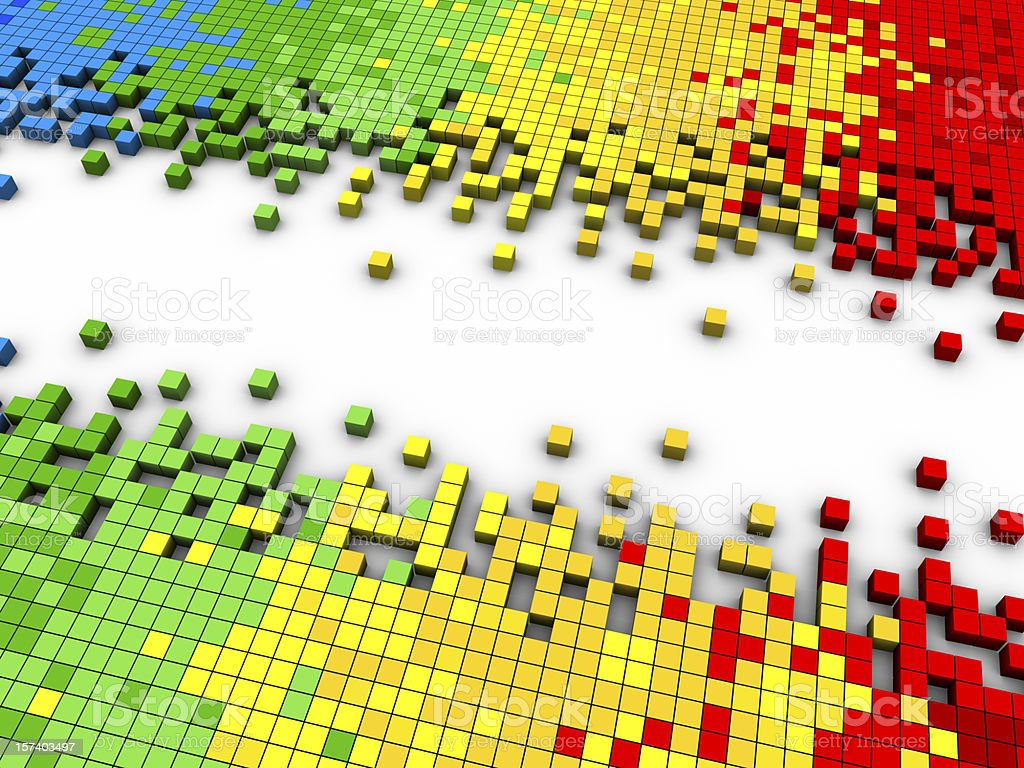 Colorful Cubes with space royalty-free stock photo