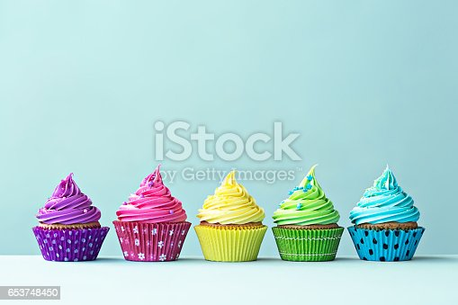 istock Colorful cupcakes 653748450