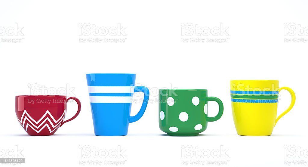 Colorful Cups royalty-free stock photo