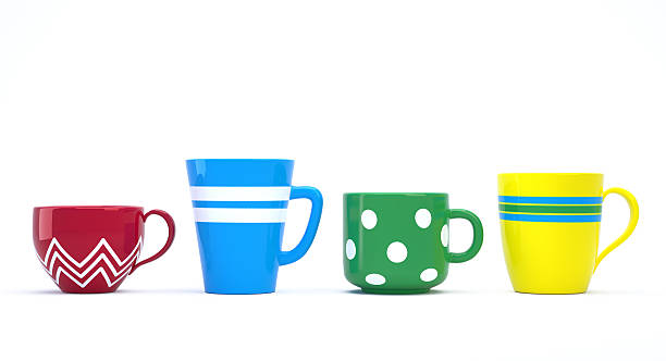 Colorful Cups stock photo