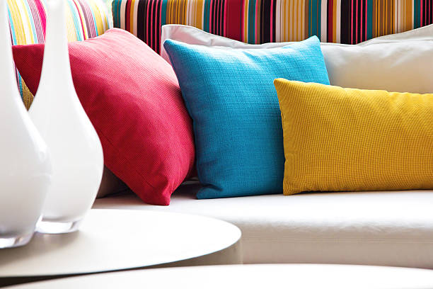 Colorful cushions Colorful cushions cushion stock pictures, royalty-free photos & images