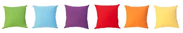 красочные подушки - подушка стоковые фото и изображения