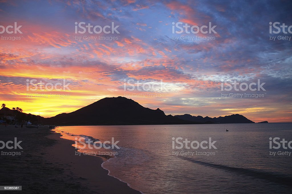 colorful dawn Gulf of Mexico royalty-free stock photo