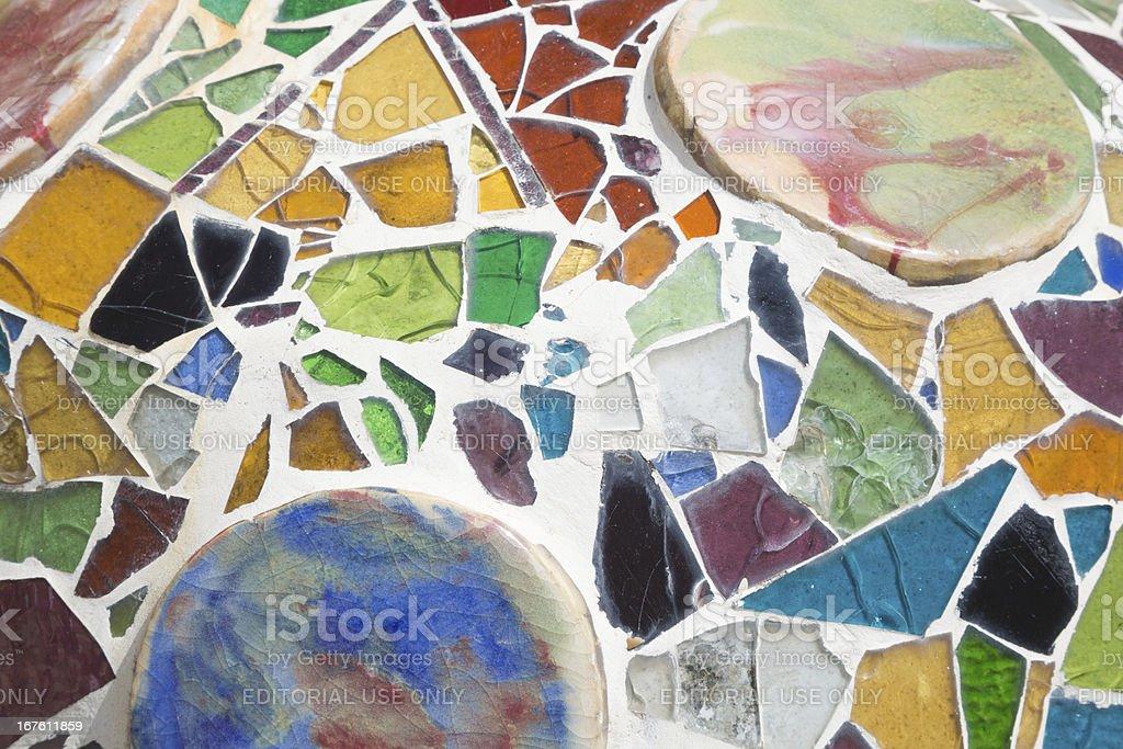 Colorful decoration of Casa Batllò Gaudì Barcelona Spain royalty-free stock photo