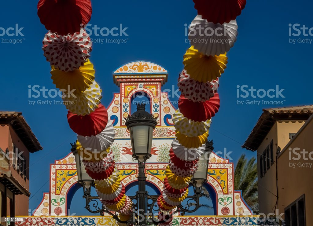 Colorful decorations stock photo