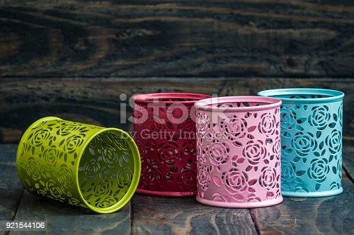 istock Colorful Decorative Metal Boxes 921544106