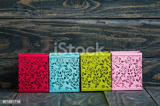 istock Colorful Decorative Metal Boxes 921557718