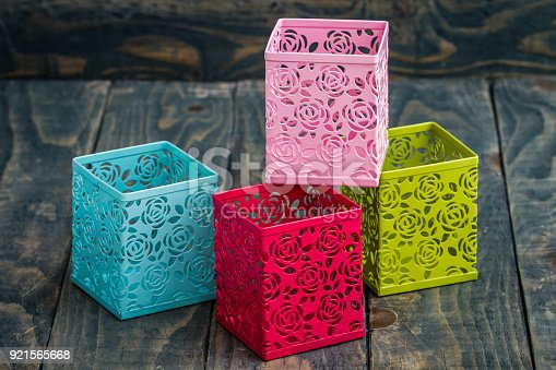 istock Colorful Decorative Metal Boxes 921565668