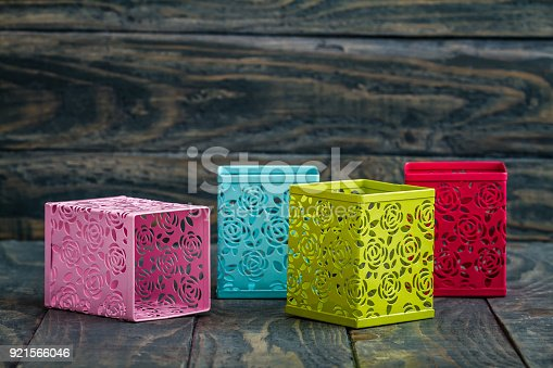 istock Colorful Decorative Metal Boxes 921566046