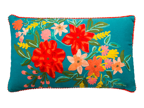 Colorful decorative pillow.