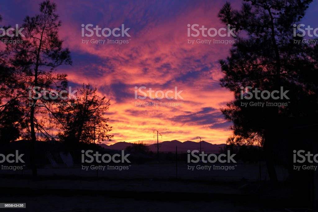 Colorful Desert Sunset - Royalty-free Cloud - Sky Stock Photo