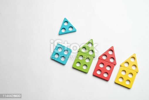 istock Colorful developing toy for children 1144428600