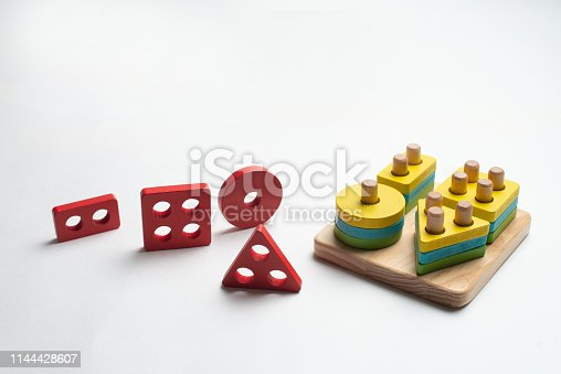 istock Colorful developing toy for children 1144428607