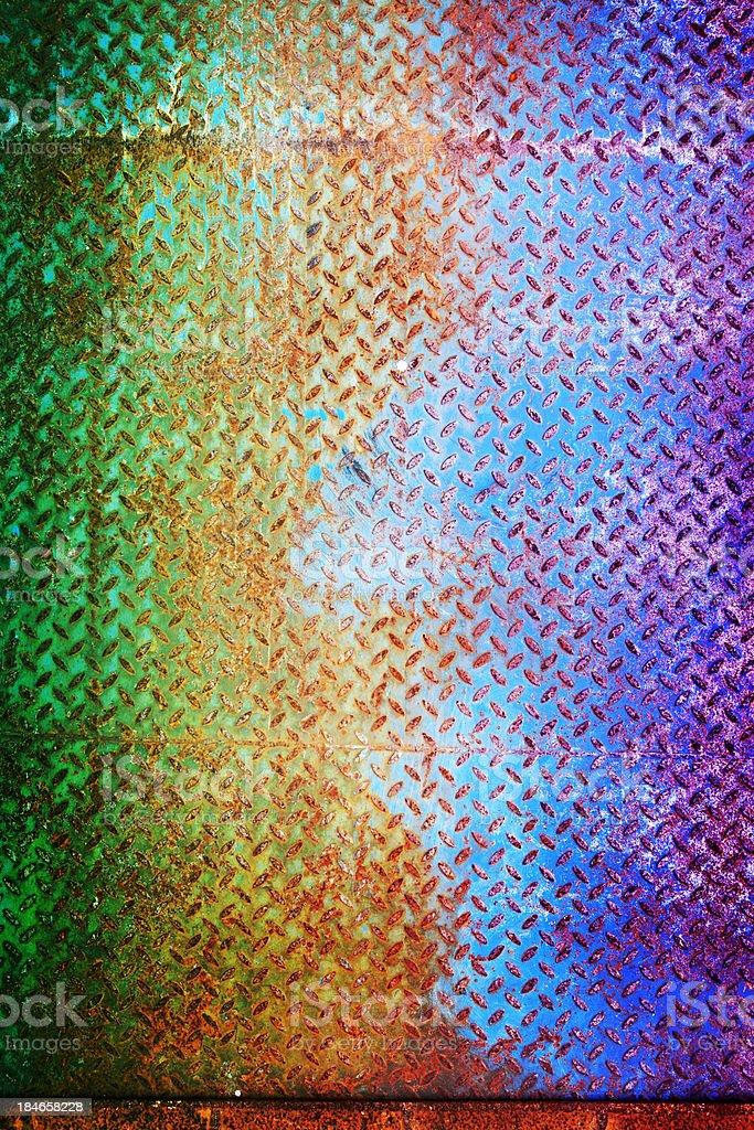 Colorful diamond steel texture stock photo