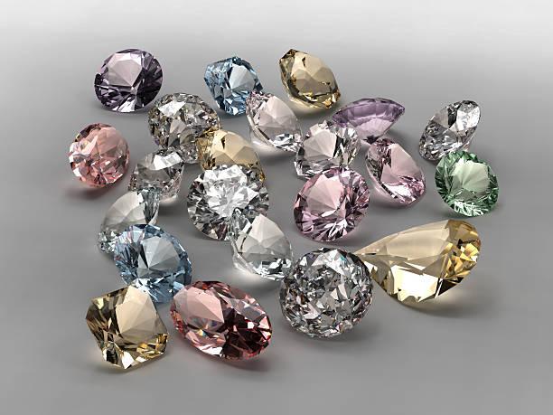 collection de diamants de couleur - diamant pierre précieuse photos et images de collection
