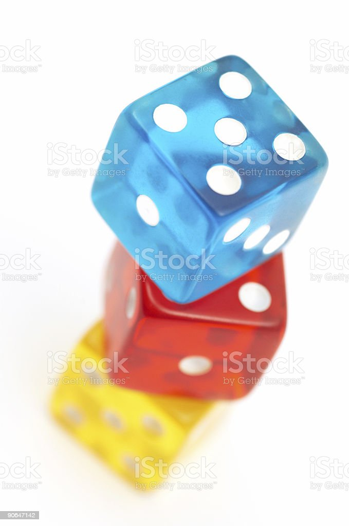 Colorful dices royalty-free stock photo