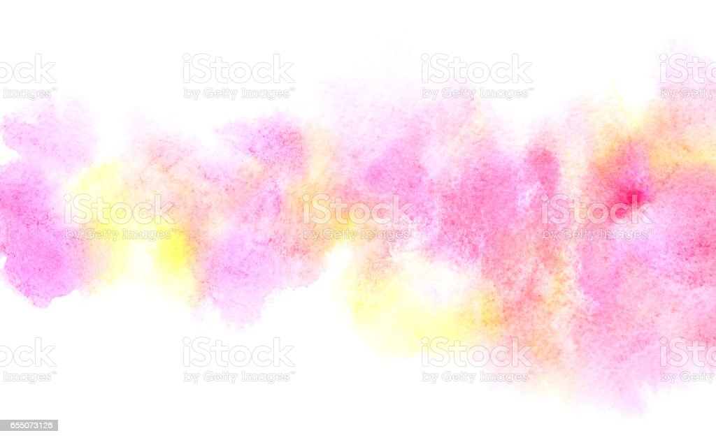 Colorful diffluent watercolor stripe stock photo