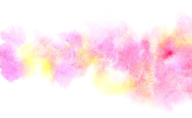 Colorful diffluent watercolor stripe stock photo