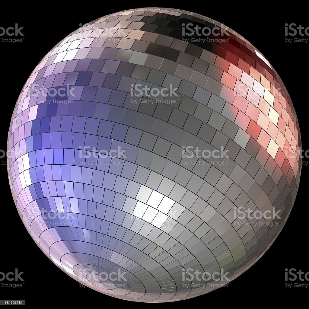 Colorful disco ball royalty-free stock photo