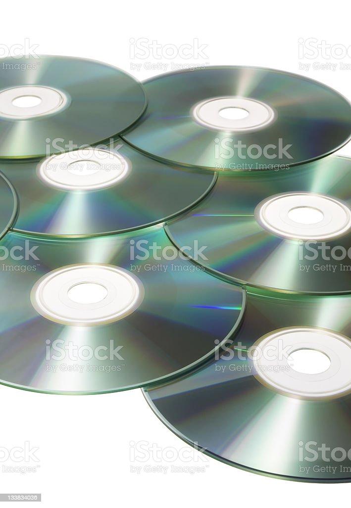 Colorful discs stock photo