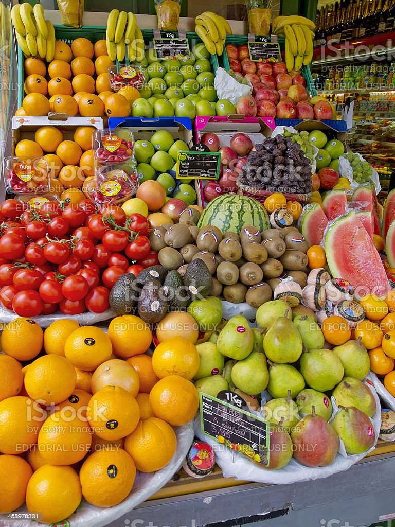 Colorful Display of Fruits royalty-free stock photo