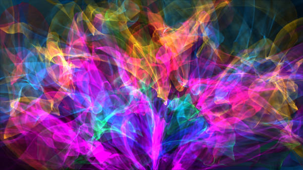 Colorful Distorted Ribbons Backgrounds stock photo