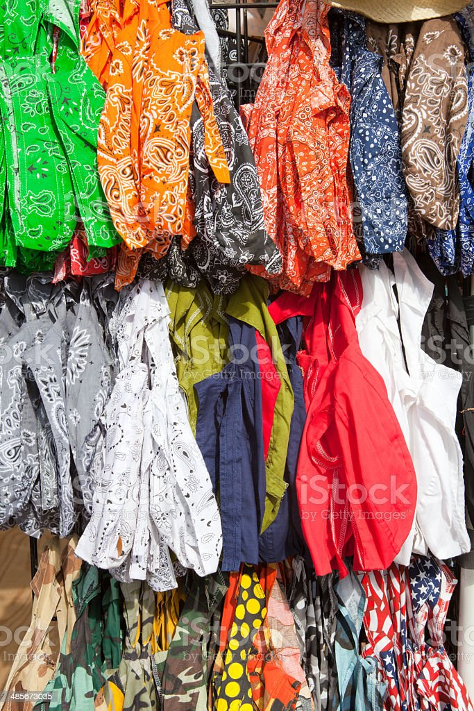 Colorful do rags for sale royalty-free stock photo