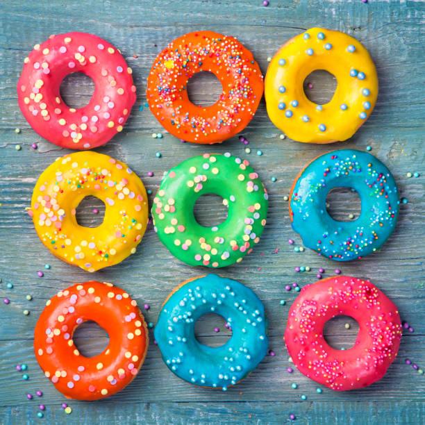 Bunte donuts – Foto